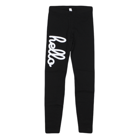 Hello Yoga (Adult) Black Leggings