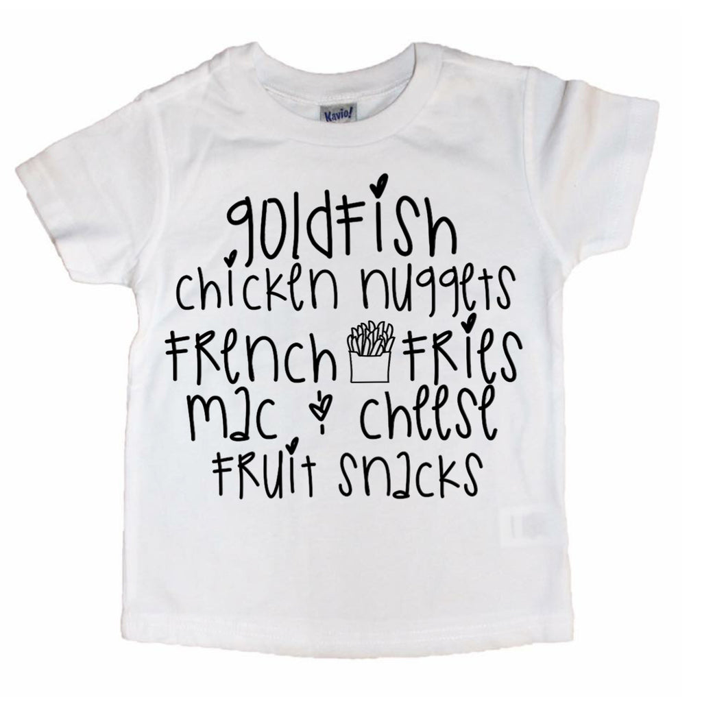 Gold Fish, Chicken Nuggets, French Fries...