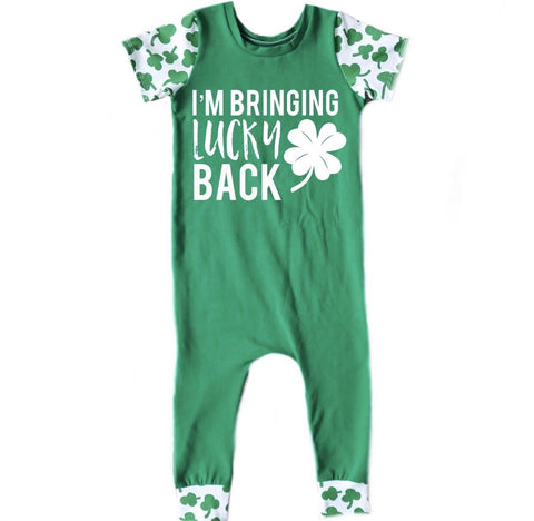 I'M BRINGING LUCKY BACK ON RAGLAN/ROMPER
