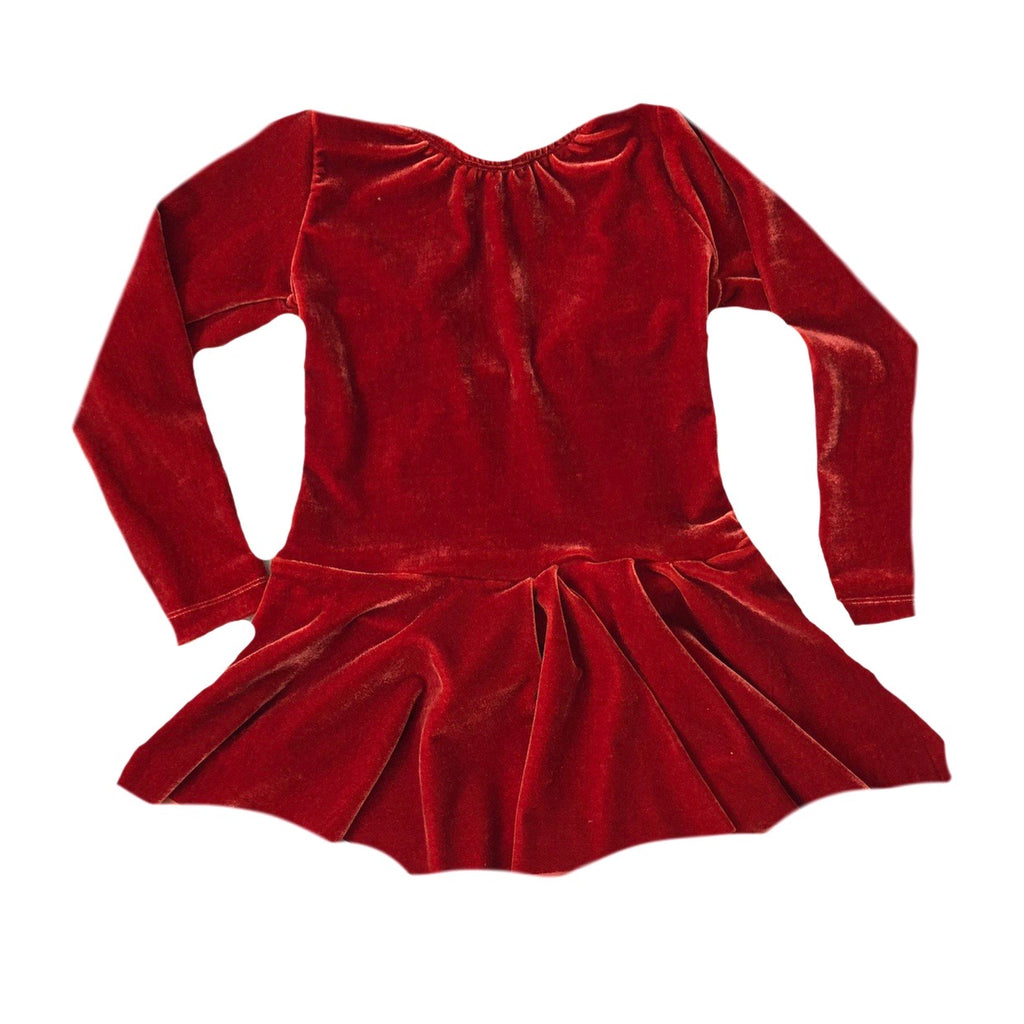 FALL VELVET RUFFLE LEOTARD