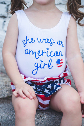 PATRIOTIC GLITTER STARS SKIRTED BUMMIES
