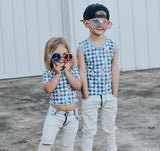 NAVY PLAID POPSICLES