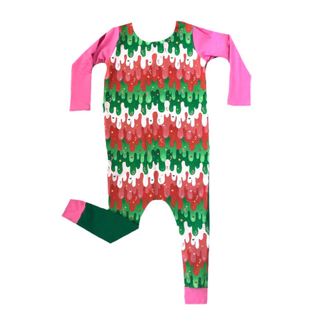 HOLIDAY AWESOME SAUCE WITH PINK/GREEN ON RAGLAN/ROMPER