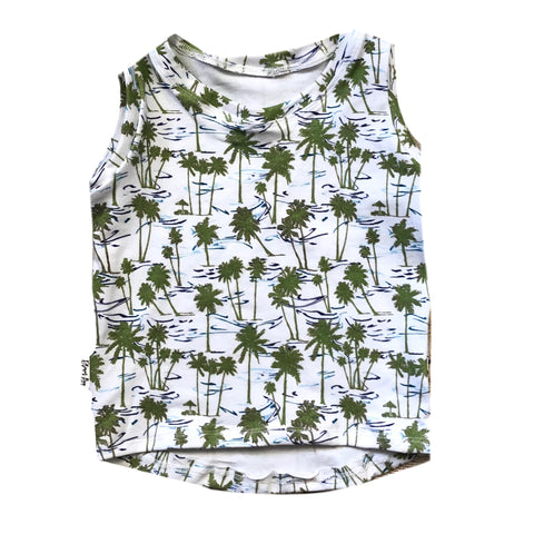 RETRO PALMS NON SWIM SPANDEX BOARD SHORT/EUROS