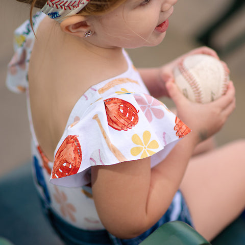 EXCLUSIVE DBLC RETRO FLORAL BASEBALL FLUTTER SLEEVE