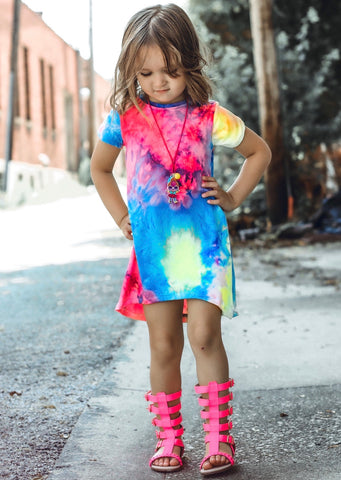 RAINBOW SHERBET HIGH LOW DRESS