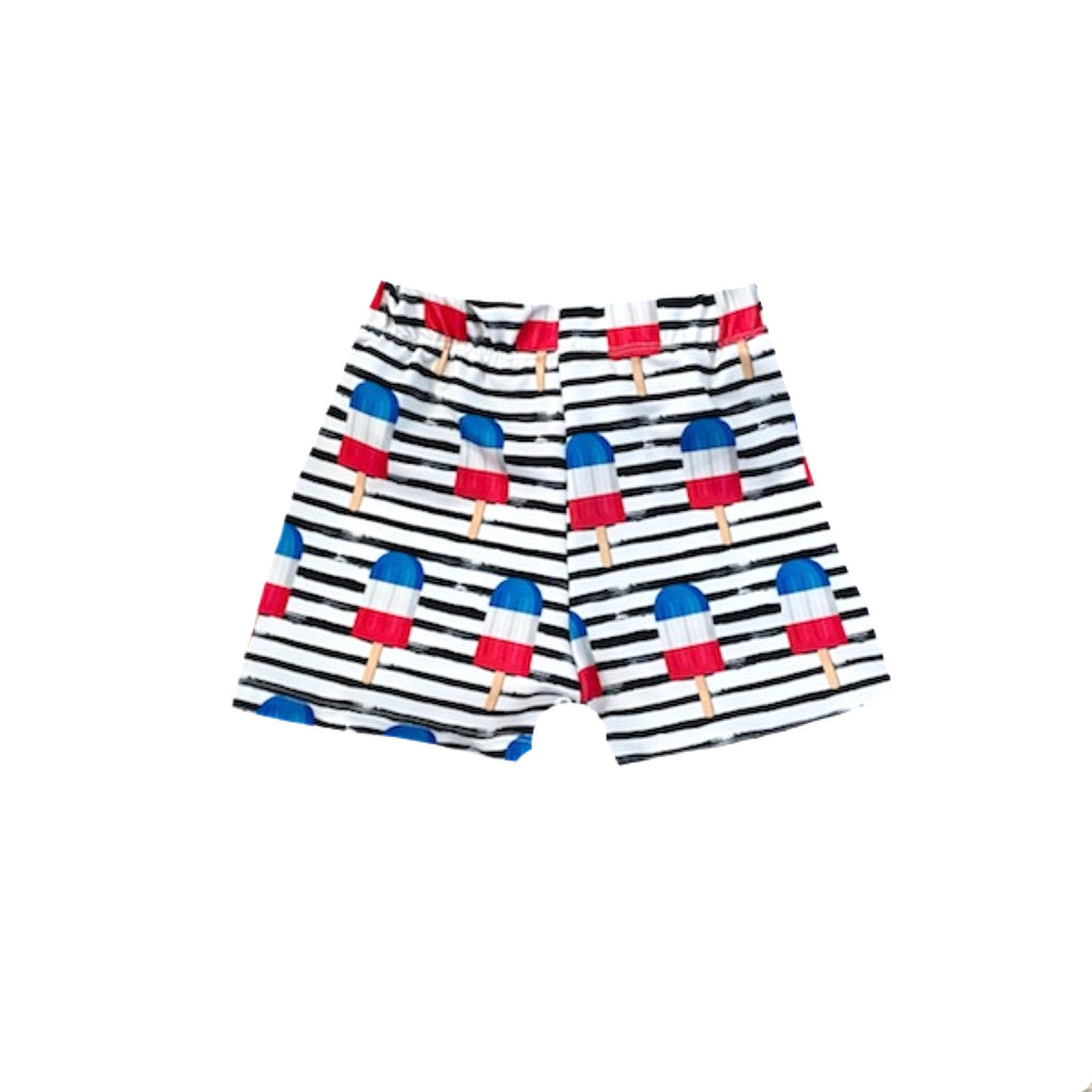BOMB POP STRIPED BOARD SHORT/EUROS