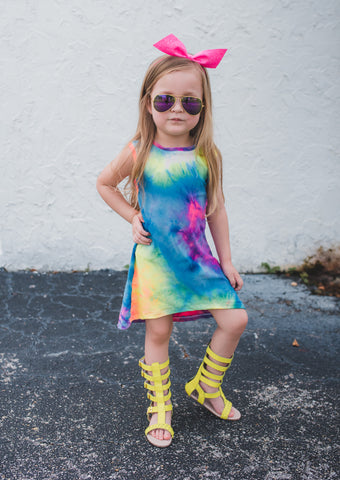 RAINBOW SHERBET TWIRL DRESS