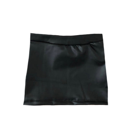BLACK PLEATHER MINI SKIRT