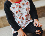 LOLLIPOP FANGS ON RAGLAN/ROMPER