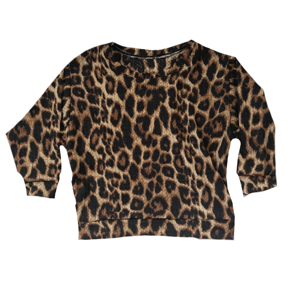 LEOPARD BOXY SWEATER