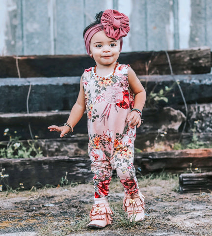 DBP LIGHT PINK FLORAL ROMPER
