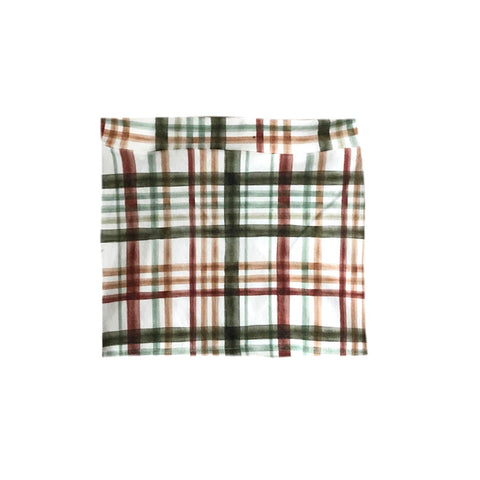 FALL PLAID MINI SKIRT