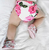 NEON PINK ON WHITE FLORAL