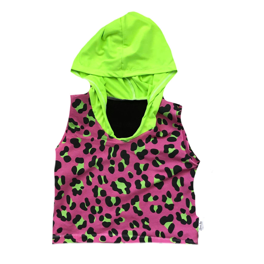PINK/LIME LEOPARD WITH GREEN
