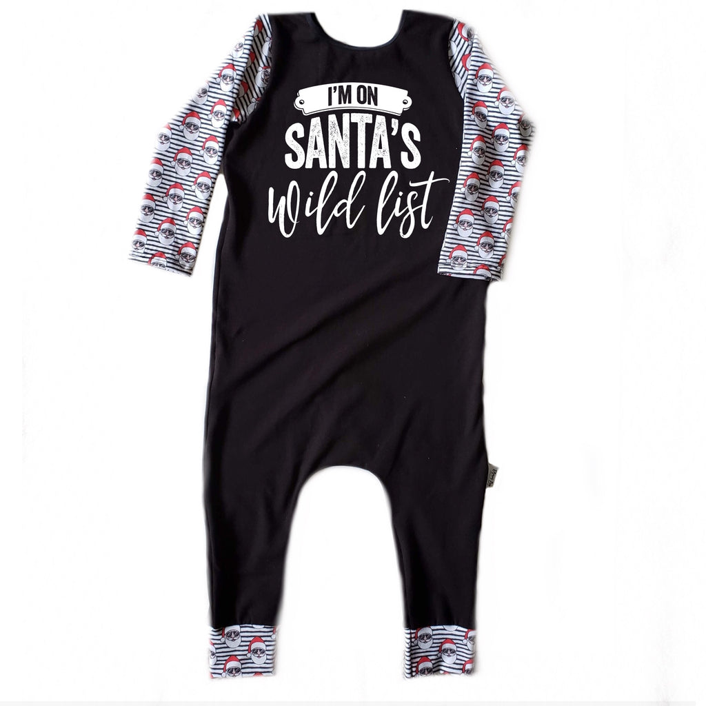 I'M ON SANTA'S WILD LIST RAGLAN/ROMPER