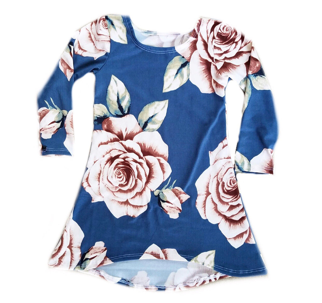 FALL BLUE FLORAL