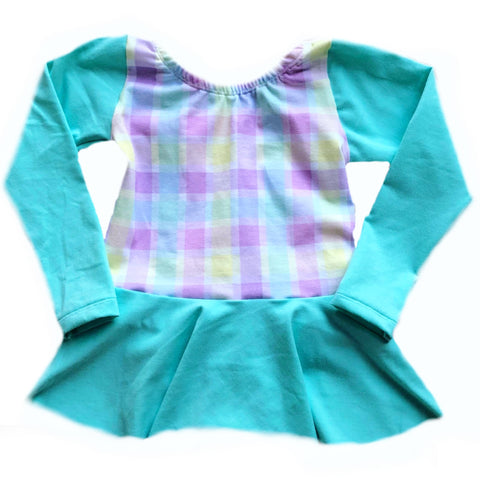 EASTER PASTEL PLAID WITH SEAMFOAM