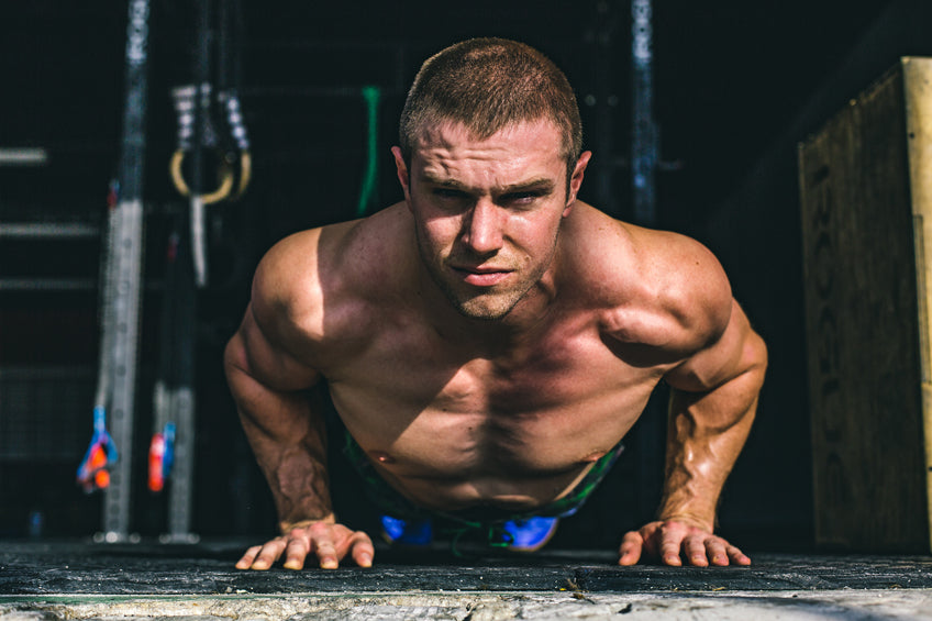 CrossFit Athlete Nick Delgrande doing Push Ups