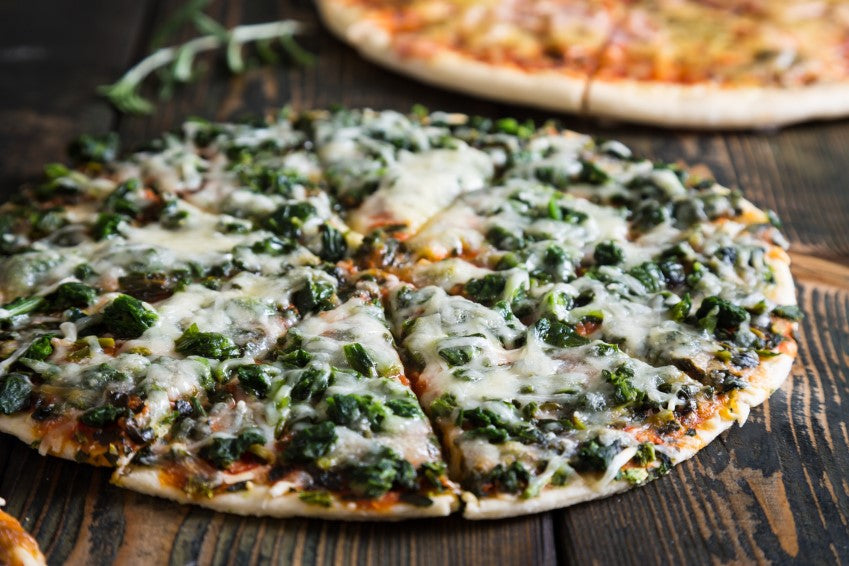 Keto Cheese and Spinach Pizza