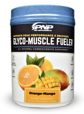 Glyco-Muscle Fueler Orange Mango carbohydrate supplement powder