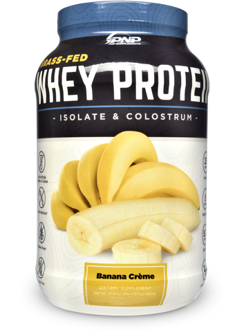 Image of Grass-Fed Whey Protein Isolate and Colostrum Banana Crème Flavor