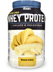 Grass-Fed Whey Protein Isolate and Colostrum Banana Crème Flavor
