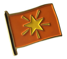Joy flag Pin