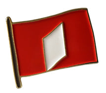 Love flag Pin