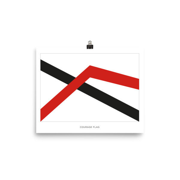 Courage flag Poster with name tag