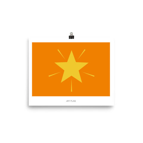 Joy flag Poster with name tag