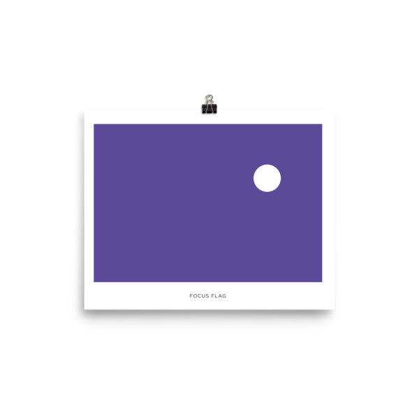 Focus flag Poster with name tag