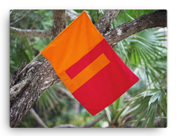 Togetherness flag Canvas