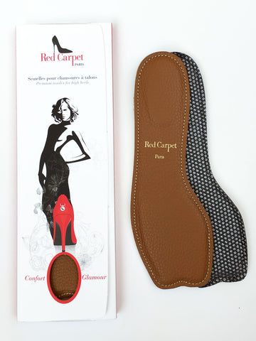 Open-Toe insoles for High Heels - Coffee - Red Carpet Paris - 1