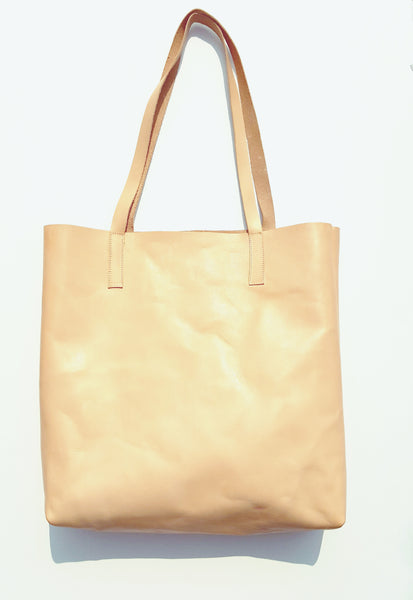 Vegetable Tanned Leather Tote Bag