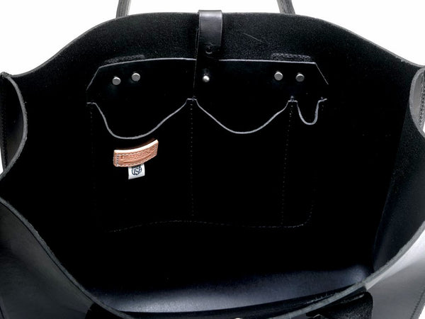 Leather Tote No. 235 | Black