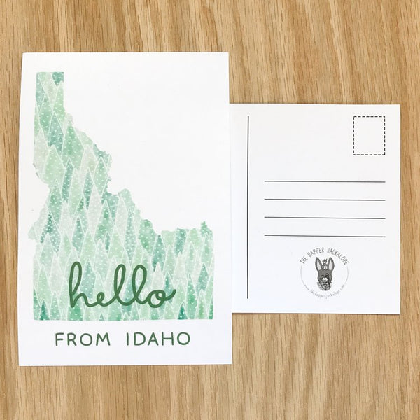 Hello From Idaho Postcard