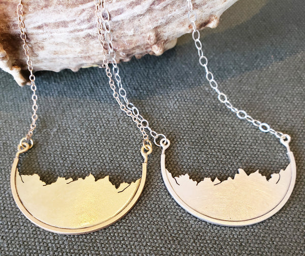 The Sawtooths | Brass or Sterling Silver