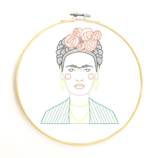 Frida Embroidery Kit