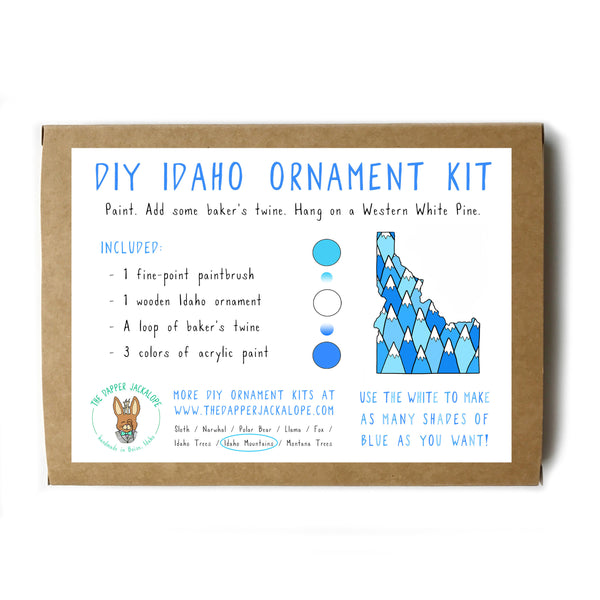 DIY Idaho Mountains Ornament Kit