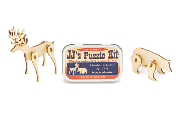 Wooden Animals Puzzle Kit