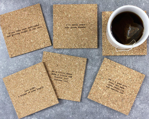 Mistaken Lyrics Coaster Set | Snacks