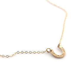 Lucky Little Horseshoe Necklace - Gold Filled