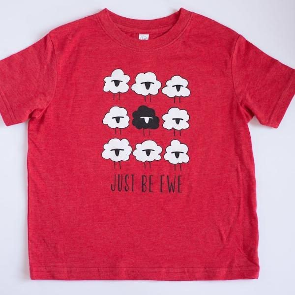 Just Be Ewe Kids T-shirt