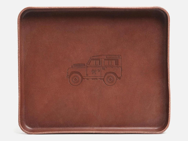 Land Rover Stamped Leather Valet Tray