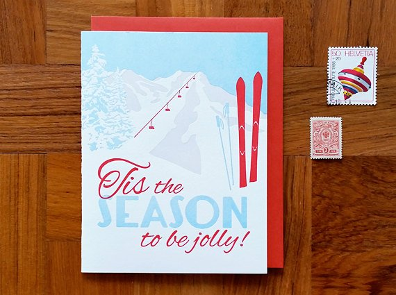 Box set of 8 Cards - Tis the Season to be Jolly