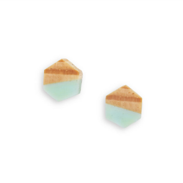 Fractal Ponderosa Pine Geo Stud Earrings- Sterling Silver