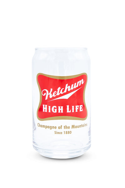 Ketchum High Life Can Glass