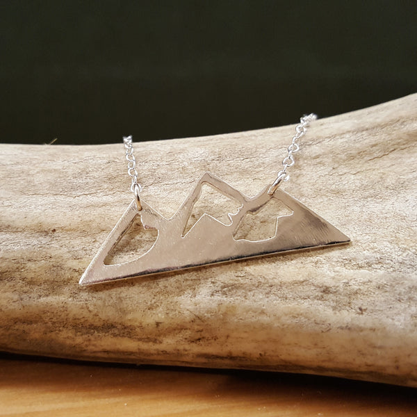 Mountain Necklace - Sterling Silver