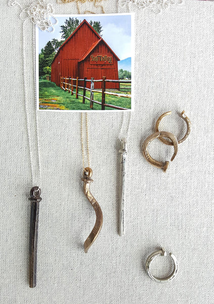 Sun Valley Barn Nail Necklace